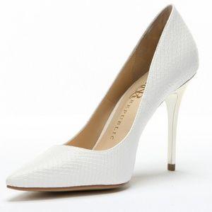 White Snake Rock & Republic Heels Stilettos 7.5